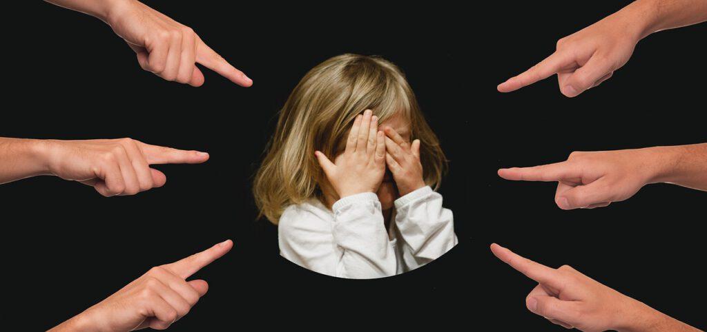 bullying, child, finger